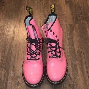 Dr. Martens Pink Boots Size 9 VGUC